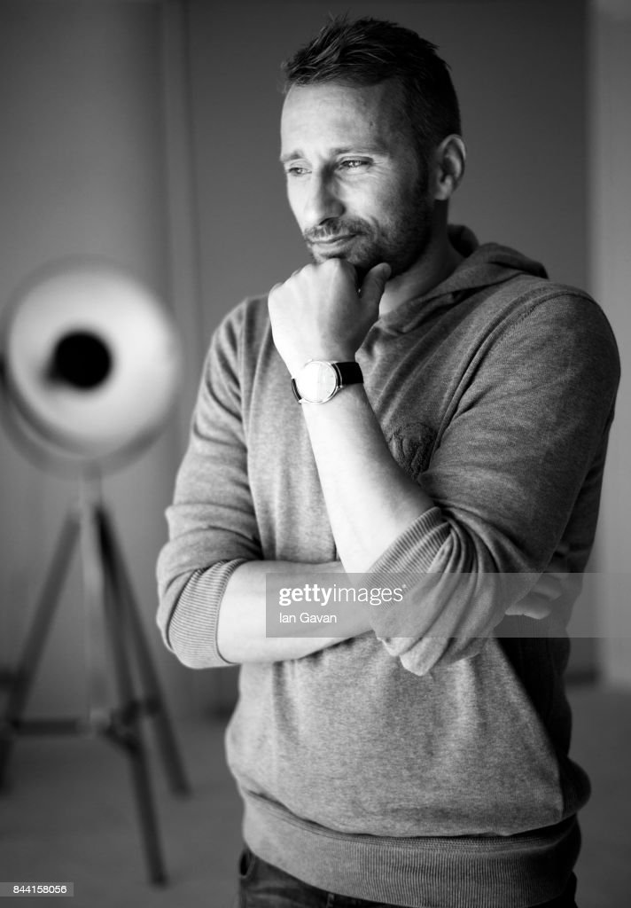 Actor Matthias Schoenaerts of 'Racer And The Jailbird' (Le Fidele) wearing a Master Grande Ultra Thin Jaeger-LeCoultre watch poses for a portrait during the 74th Venice Film Festival in the Jaeger-LeCoultre lounge at Hotel Excelsior on September 8, 2017 in Venice, Italy.