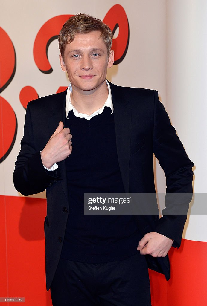 Actor Matthias Schweighoefer poses on the red carpet as he arrives for the B.Z. Kulturpreis on January 18, 2013 in Berlin, Germany.
