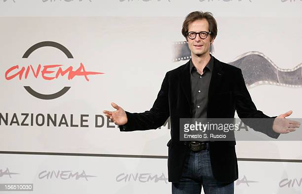 Actor Mattias Ripa attends the 'La Bande Des Jotas' Photocall during the 7th Rome Film Festival at the Auditorium Parco Della Musica on November 16,...