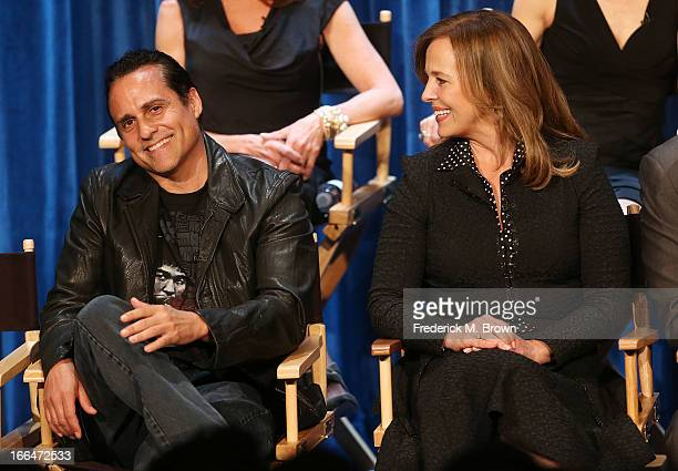 Actor Maurice Benard and actress Genie Francis attend` The Paley Center for Media Presents 'General Hospital Celebrating 50 years and Looking...