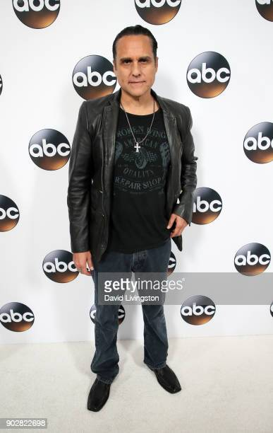 Actor Maurice Benard attends Disney ABC Television Group's TCA Winter Press Tour 2018 at The Langham Huntington Pasadena on January 8 2018 in...