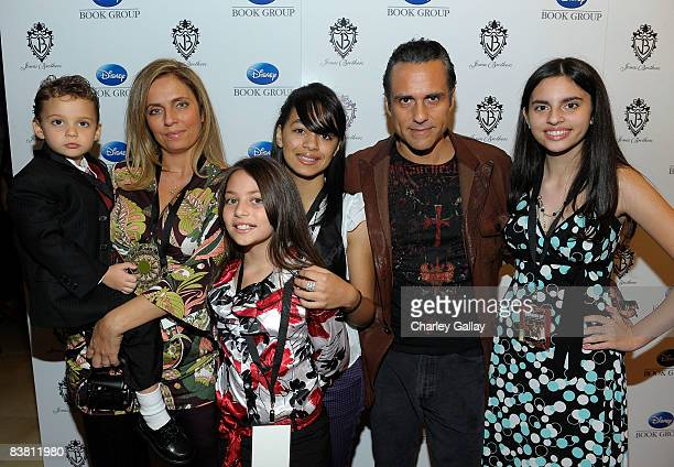 Actor Maurice Bernard arrives eith his family at the book launch for 'Burning Up On Tour With The Jonas Brothers' at the Sunset Tower hotel on...