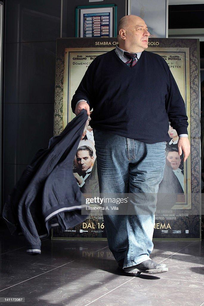 Actor Maurizio Coruzzi aka Platinette attends 'Magnifica Presenza' photocall at Adriano Cinema on March 12, 2012 in Rome, Italy.