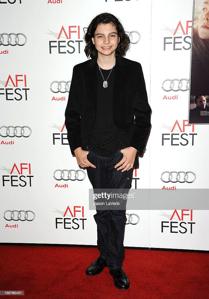 Actor Max Burkholder attends the 2012 AFI Fest premiere of 'Ginger & Rosa' at Grauman's Chinese Theatre on November 7, 2012 in Hollywood, California.