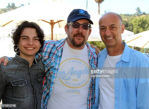 Actor Max Burkholder Executive Director Matt Asner and Actor David Marciano attend the 13th Annual Los Angeles Walk Now for Autism Speaks at Rose...