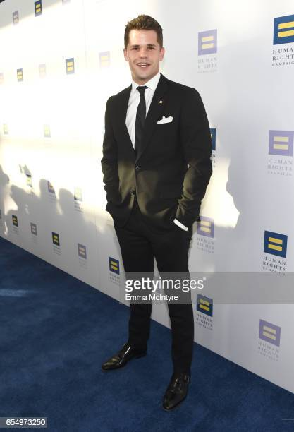 Actor Max Carver at The Human Rights Campaign 2017 Los Angeles Gala Dinner at JW Marriott Los Angeles at LA LIVE on March 18 2017 in Los Angeles...