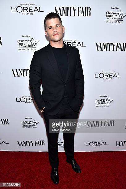 Actor Max Carver attends a DJ night hosted by Vanity Fair L'Oreal Paris Hailee Steinfeld at Palihouse Holloway on February 26 2016 in West Hollywood...