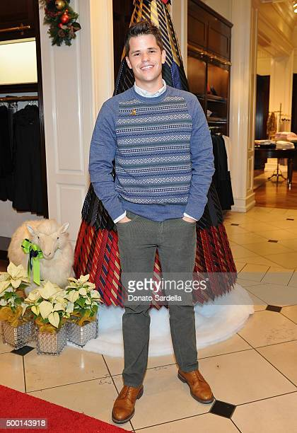 Actor Max Carver attends the Brooks Brothers holiday party with St Jude Children's Research Hospital at Brooks Brothers on Rodeo Drive on December 5...