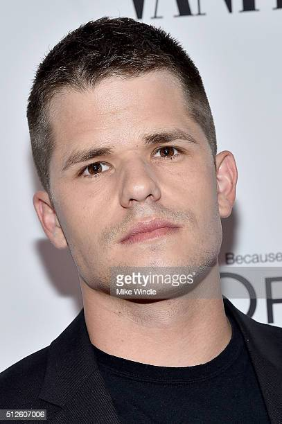 Actor Max Carver attends Vanity Fair L'Oreal Paris Hailee Steinfeld host DJ Night at Palihouse Holloway on February 26 2016 in West Hollywood...