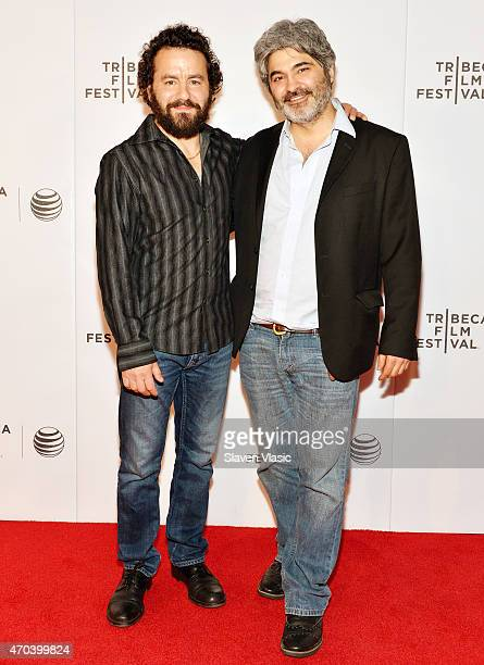 Actor Max Casella and director Onur Tukel attend the premiere of 'Applesauce' during the 2015 Tribeca Film Festival at Regal Battery Park 11 on April...