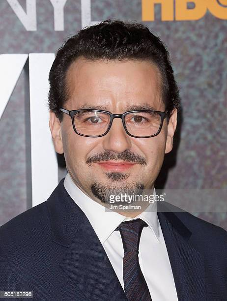Actor Max Casella attends the 'Vinyl' New York premiere at Ziegfeld Theatre on January 15 2016 in New York City
