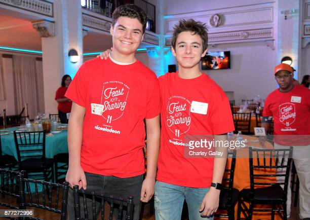 Actor Max Charles and guest attends The Salvation Army Feast of Sharing presented by Nickelodeon at Casa Vertigo on November 21 2017 in Los Angeles...