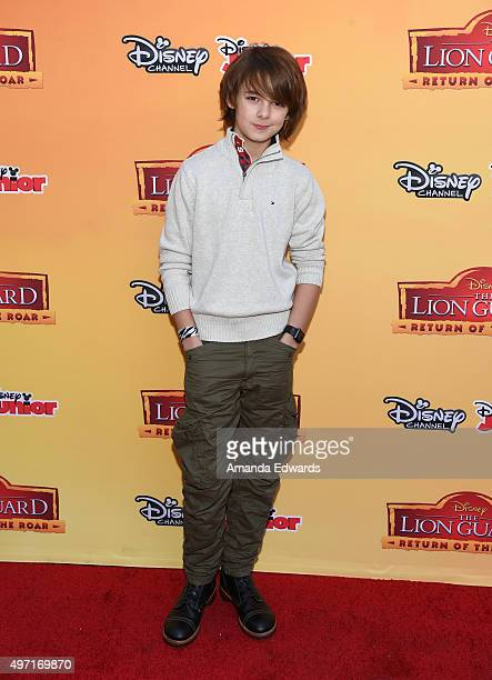 """Actor Max Charles arrives at the premiere of Disney Channel's """"The Lion Guard: Return Of The Roar"""" at Walt Disney Studios on November 14, 2015 in..."""