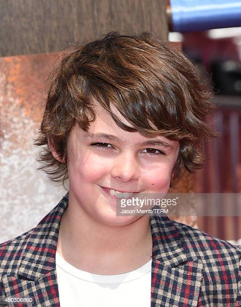 """Actor Max Charles arrives at the LA premiere of """"How To Train Your Dragon 2"""" at the Regency Village Theatre on June 8, 2014 in Westwood, California."""