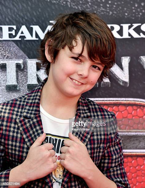"""Actor Max Charles arrives at the premiere of Twentieth Century Fox and DreamWorks Animation """"How To Train Your Dragon 2"""" at the Village Theatre on..."""