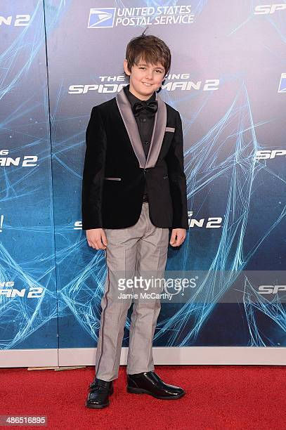Actor Max Charles attends 'The Amazing SpiderMan 2' premiere at the Ziegfeld Theater on April 24 2014 in New York City