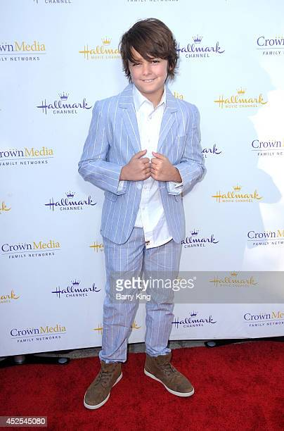 Actor Max Charles attends the Hallmark Channel and Hallmark Movie Channel's 2014 Summer TCA Party on July 8 2014 in Beverly Hills California