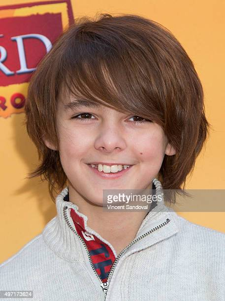 Actor Max Charles attends the premiere of Disney Channel's 'The Lion Guard Return Of The Roar' at Walt Disney Studios on November 14 2015 in Burbank...