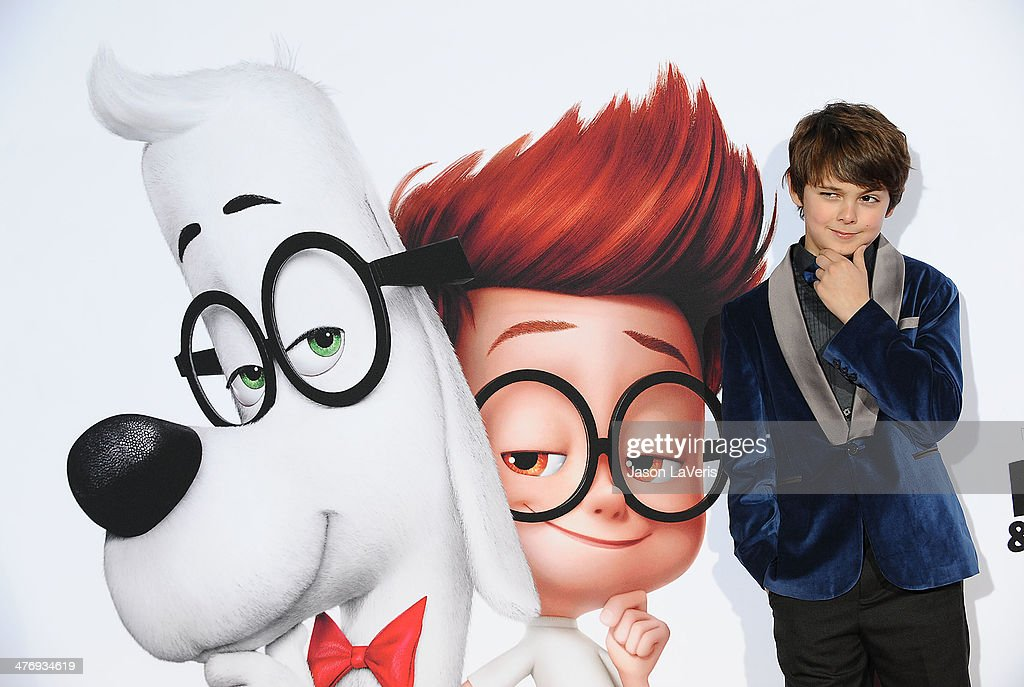 Actor Max Charles attends the premiere of 'Mr. Peabody & Sherman' at Regency Village Theatre on March 5, 2014 in Westwood, California.