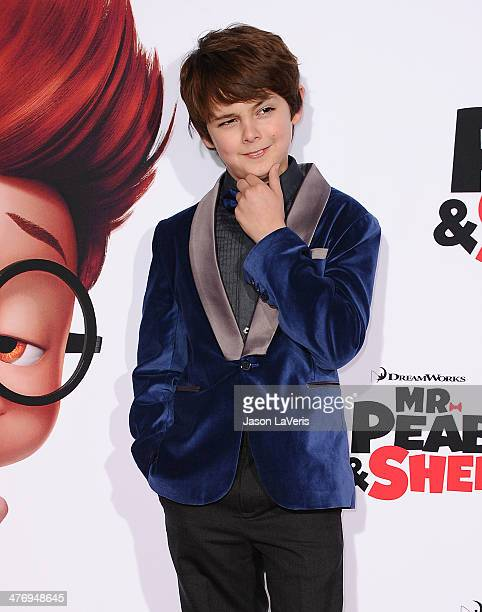 Actor Max Charles attends the premiere of 'Mr Peabody Sherman' at Regency Village Theatre on March 5 2014 in Westwood California