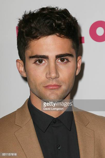 Actor Max Ehrich arrives at NYLON and BCBGeneration's Annual Young Hollywood May Issue Event at HYDE Sunset Kitchen Cocktails on May 12 2016 in West...