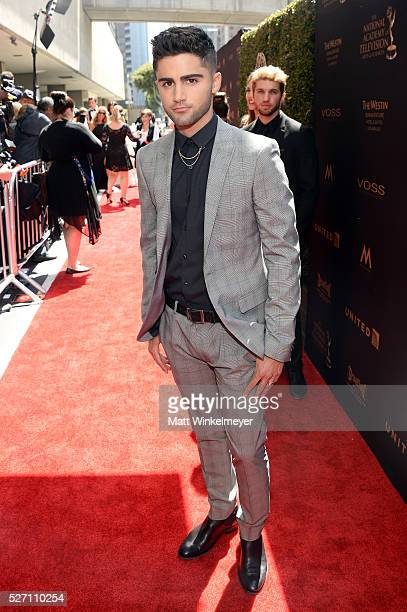 Actor Max Ehrich arrives at the 43rd Annual Daytime Emmy Awards at the Westin Bonaventure Hotel on May 1 2016 in Los Angeles California