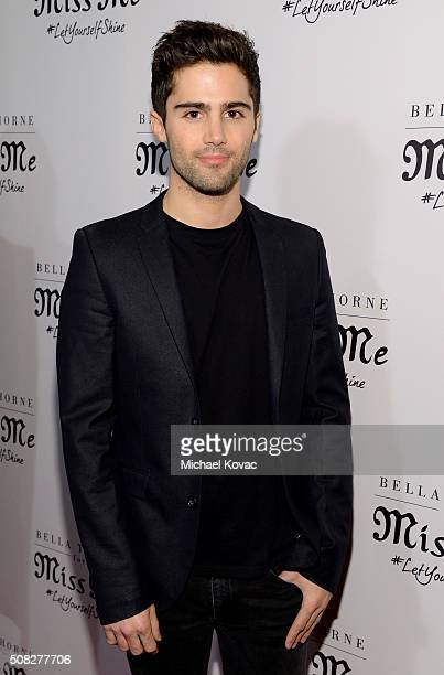 Actor Max Ehrich attends Miss Me and Cosmopolitan's Spring Campaign Launch Event Hosted by Bella Thorne at The Terrace at Sunset Tower Hotel in Los...
