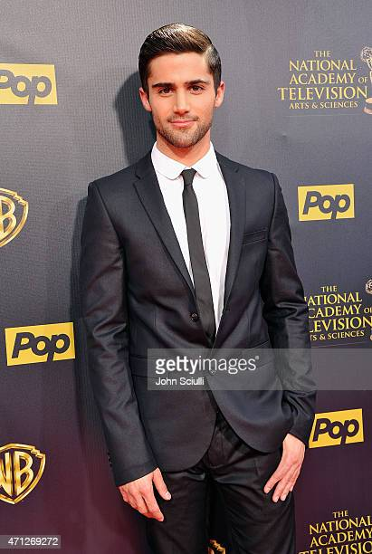 Actor Max Ehrich attends The 42nd Annual Daytime Emmy Awards at Warner Bros Studios on April 26 2015 in Burbank California