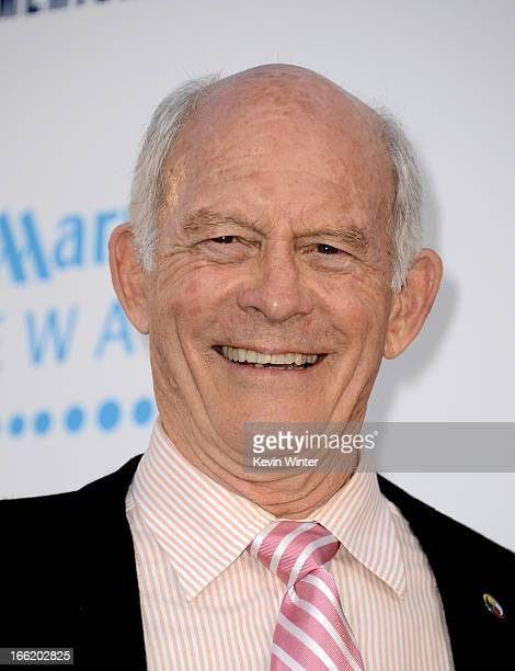 Actor Max Gail arrives at the premiere of Warner Bros Pictures' and Legendary Pictures' 42 at the Chinese Theatre on April 9 2013 in Los Angeles...