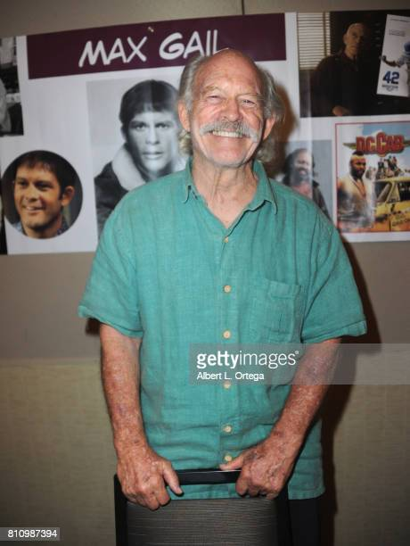 Actor Max Gail signs autographs at The Hollywood Show held at Westin LAX Hotel on July 8 2017 in Los Angeles California