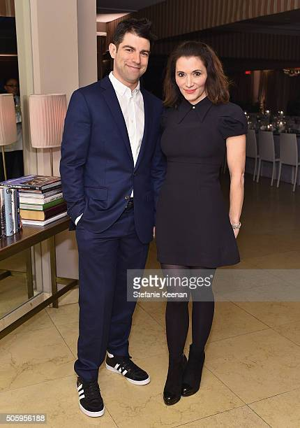 Actor Max Greenfield and Fox casting director Tess Sanchez attend ELLE's 6th Annual Women in Television Dinner Presented by Hearts on Fire Diamonds...
