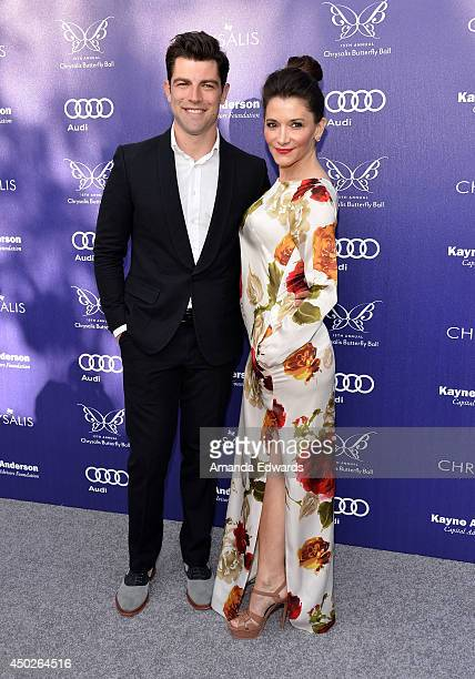 Actor Max Greenfield and his wife Tess Sanchez arrive at the 13th Annual Chrysalis Butterfly Ball at a private Mandeville Canyon estate on June 7...