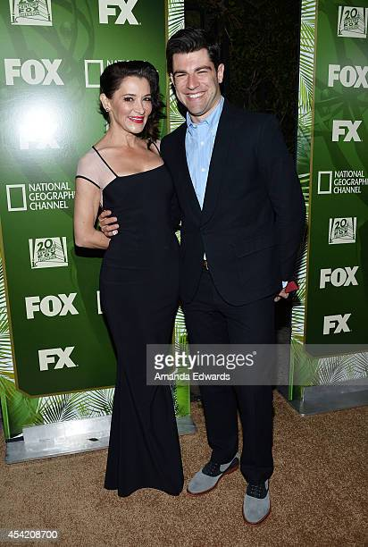 Actor Max Greenfield and his wife Tess Sanchez arrive at the FOX 20th Century FOX Television FX Networks and National Geographic Channel's 2014 Emmy...