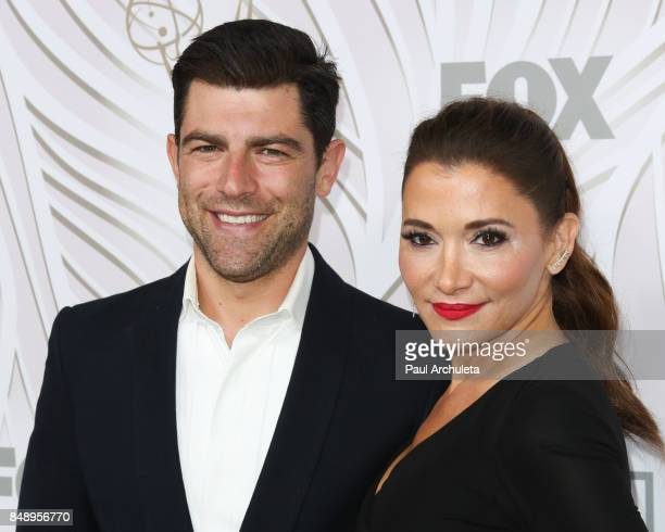 Actor Max Greenfield and his Wife Tess Sanchez attend the FOX Broadcasting Company Twentieth Century Fox Television FX and National Geographic 69th...