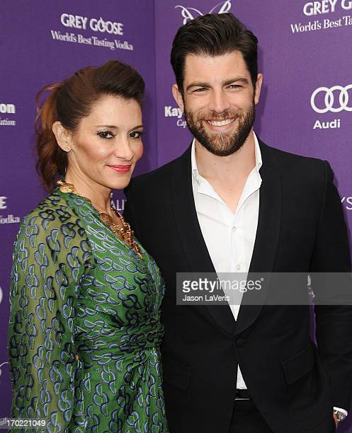 Actor Max Greenfield and wife Tess Sanchez attend the 12th annual Chrysalis Butterfly Ball on June 8 2013 in Los Angeles California
