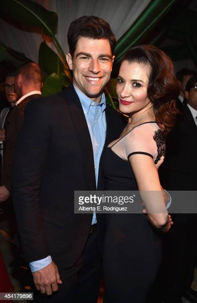 Actor Max Greenfield and wife Tess Sanchez attend the FOX 20th Century FOX Television FX Networks and National Geographic Channel's 2014 Emmy Award...