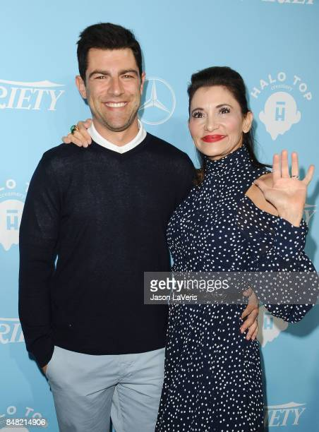 Actor Max Greenfield and wife Tess Sanchez attend Variety and Women In Film's 2017 preEmmy celebration at Gracias Madre on September 15 2017 in West...