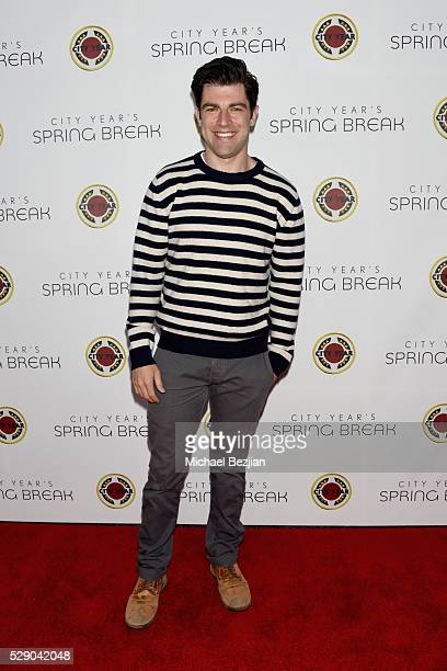 Actor Max Greenfield attends City Year Los Angeles Spring Break Event at Sony Studios on May 7 2016 in Los Angeles California