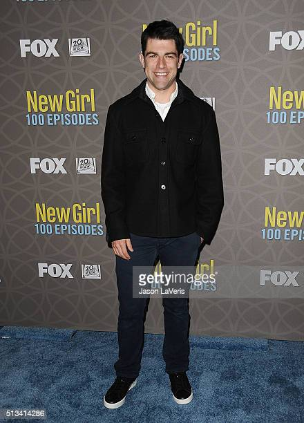 Actor Max Greenfield attends Fox's 'New Girl' 100th episode party at W Los Angeles West Beverly Hills on March 2 2016 in Los Angeles California