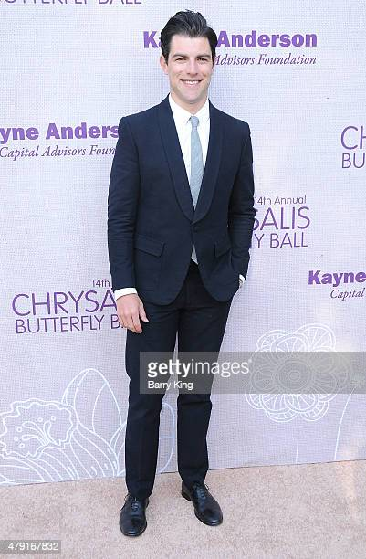 Actor Max Greenfield attends the 14th annual Chrysalis Butterfly Ball sponsored by Audi Kayne Anderson Lauren B Beauty and Z Gallerie on June 6 2015...