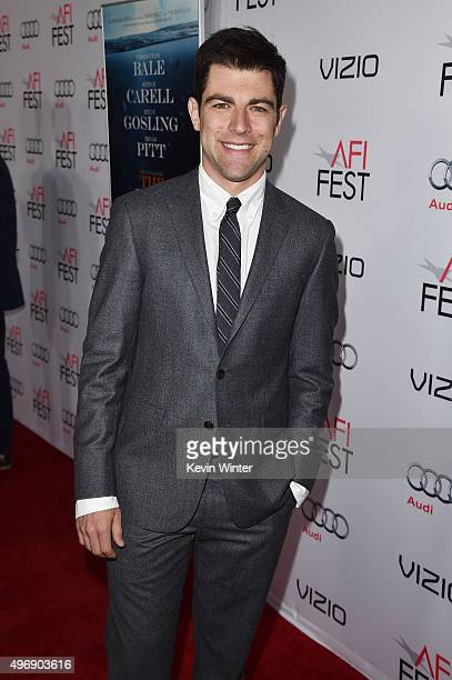 """Actor Max Greenfield attends the closing night gala premiere of Paramount Pictures' """"The Big Short"""" during AFI FEST 2015 at TCL Chinese Theatre on..."""