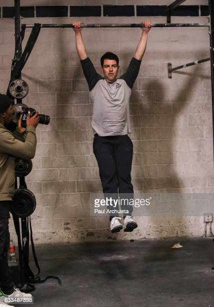 Actor Max Greenfield attends the Max Greenfield celebrates Reebok Nano 7 launch at CrossFit Paridiso at Paradiso Crossfit on February 1 2017 in...
