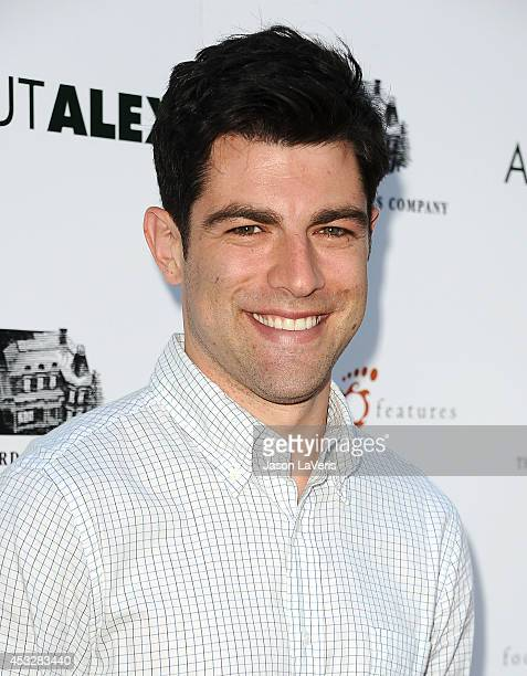 Actor Max Greenfield attends the premiere of 'About Alex' at ArcLight Hollywood on August 6 2014 in Hollywood California