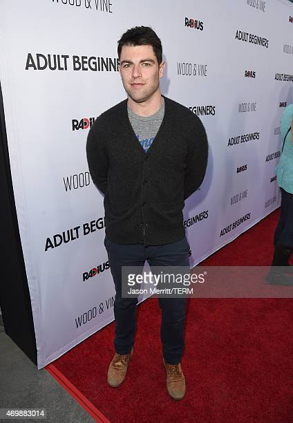 Actor Max Greenfield attends the premiere of Adult Beginners at ArcLight Hollywood on April 15 2015 in Hollywood California
