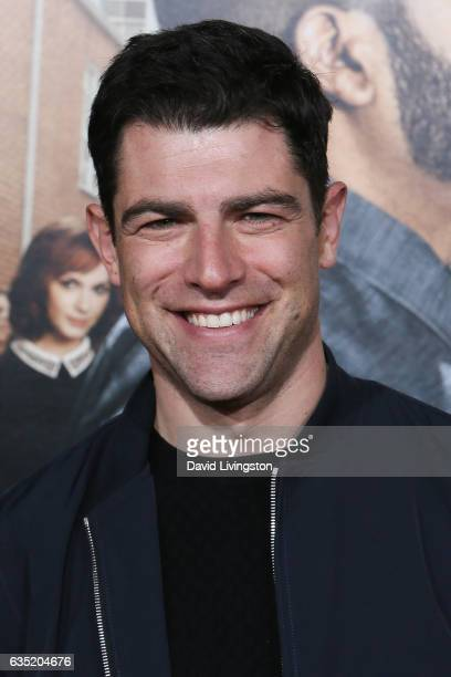 Actor Max Greenfield attends the premiere of Warner Bros Pictures' 'Fist Fight' at Regency Village Theatre on February 13 2017 in Westwood California