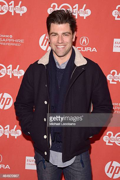Actor Max Greenfield attends the 'They Came Together' premiere at Eccles Center Theatre during the 2014 Sundance Film Festival on January 24 2014 in...