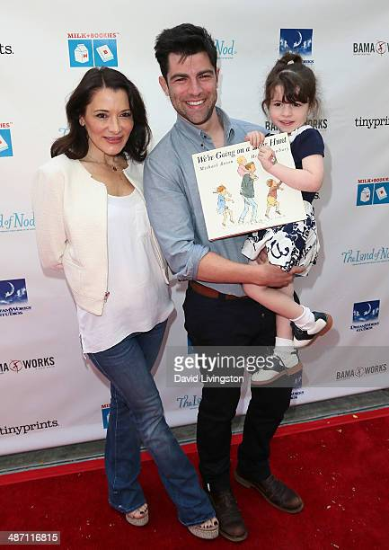 Actor Max Greenfield wife Tess Sanchez and daughter Lily Greenfield attend Milk Bookies 5th Annual Story Time Celebration at the Skirball Cultural...
