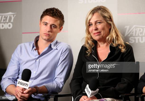 Actor Max Irons and director Lone Scherfig attend day 2 of the Variety Studio presented by Moroccanoil at Holt Renfrew during the 2014 Toronto...