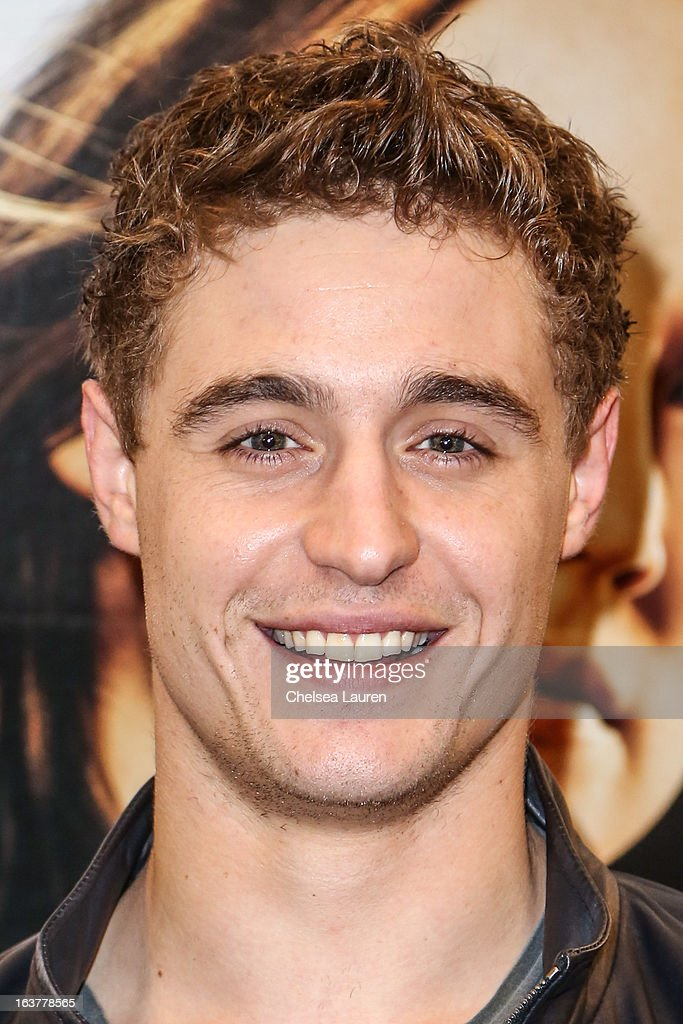 Actor Max Irons arrives at the celebration of the film release of 'The Host' at Barnes & Noble bookstore at The Grove on March 15, 2013 in Los Angeles, California.