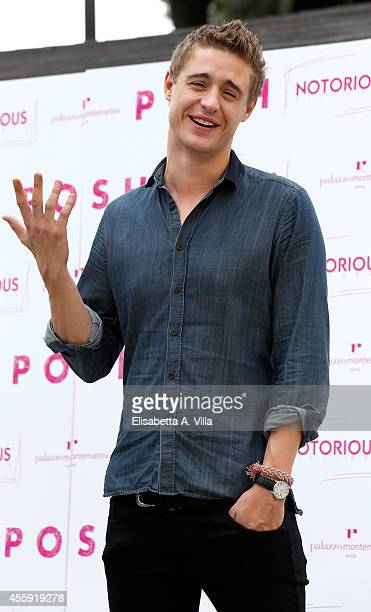 Actor Max Irons attends 'Posh' photocall at Hotel Palazzo Montemartini on September 22 2014 in Rome Italy